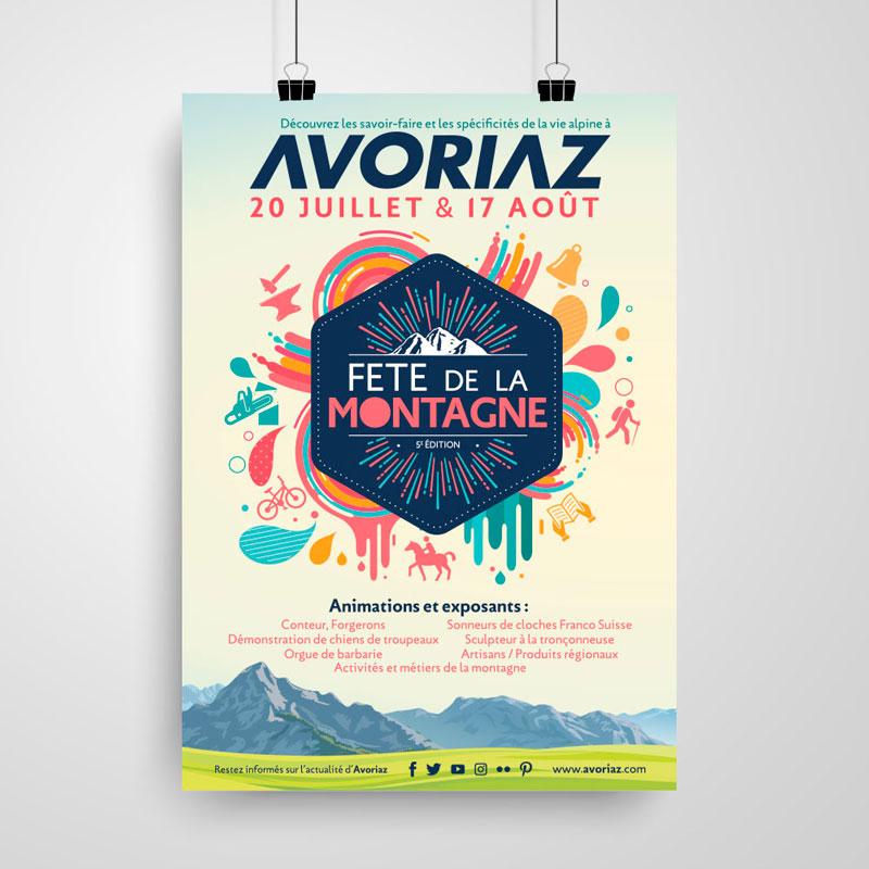 affiche avoriaz fête de la montagne