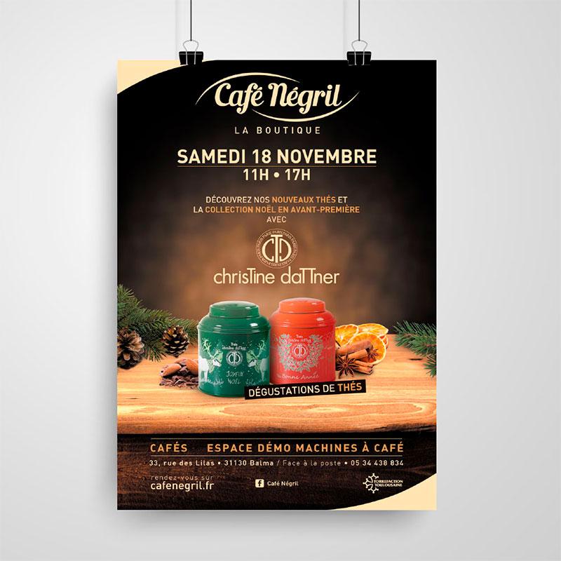 affiche café négril thés christine dattner