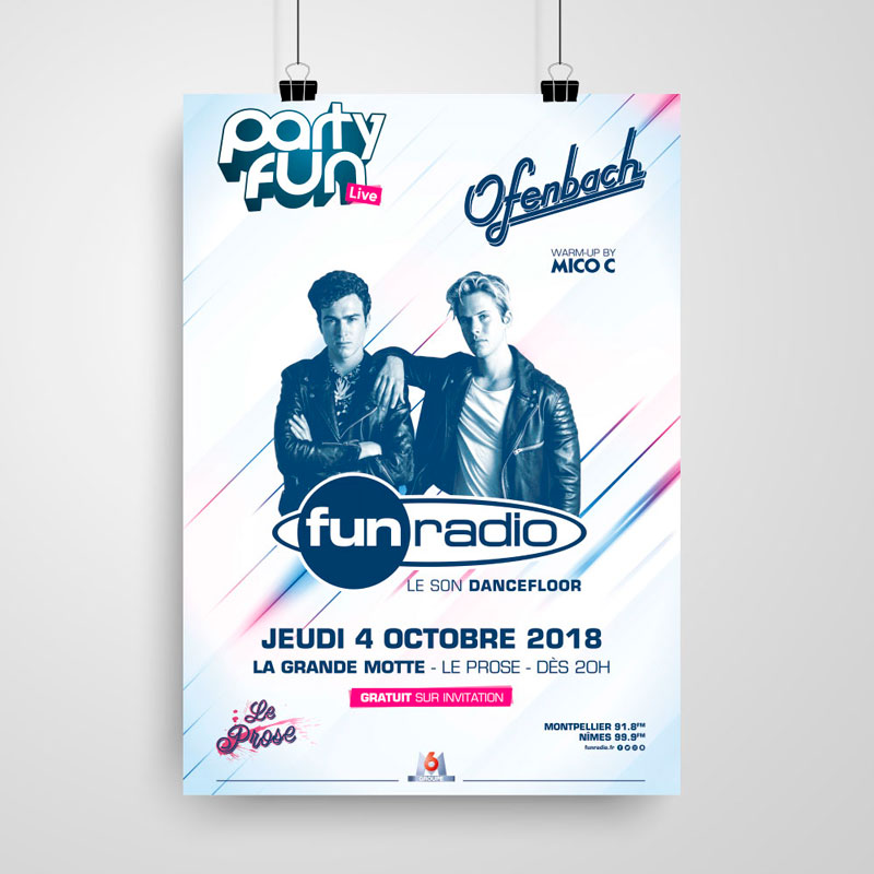 affiche fun radio party fun live
